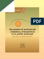 Mecanismos de participación ciudadana y transparencia en la gestión municipal. FUNDE