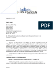 Mohegan Sun letter to the Mass. Gaming Commission