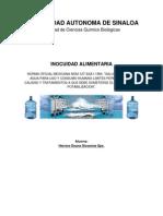 Tarea 4 Inocuidad Potabilizacion de Agua y Limites Permisibles