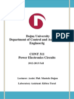 Yeni-2 Power Electronic Experiments
