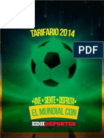 Tarifario EDH 2014