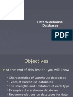 Data Warehouse Databases