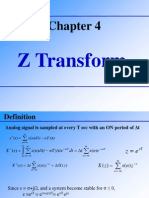 Z Transform and It's Applications