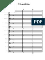 3 Notes Warmup - Marching band
