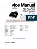 Panasonic Rm-g30eag Rm-g30gag Honda Sm