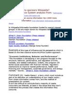 Who Controls Wikipedia? Price System Analysis