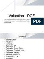 Valuation - DCF