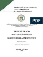Dterminacion de La Actividad Antibacteriana. Los Extractos de Romero y Tomillo