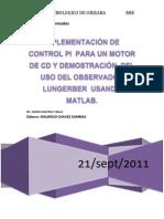 66775152 Implementacion de Control PI Para Un Motor de CD y Demostracion Del Uso Del Observador Lungerber Usando Matlab 2222