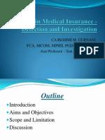 Agarwal Colege - Frauds in Medical Insurance