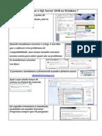 InstalarSQLServer2008onWin7