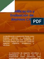 Identificación y Evaluación de Alumnos CAS