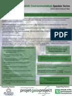 Realistic Environmentalism Speaker Series Summary