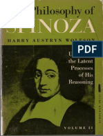 Wolfson, The Philosophy of Spinoza. Vol. 2