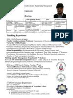 Murad Habib Cv 14 September 2014