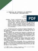 BALEEIRO, Aliomar. O Tribunal de Contas e o Controle Da Execução Orçamentária