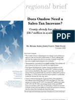 Does Onslow need a sales tax increase?