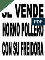 Letrero - Se Vende Horno Pollero