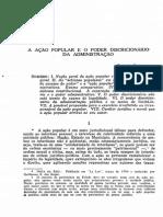 BIELSA, Rafael. a Ação Popular e o Poder Discricionário Da Administração