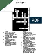 Six Sigma crossword