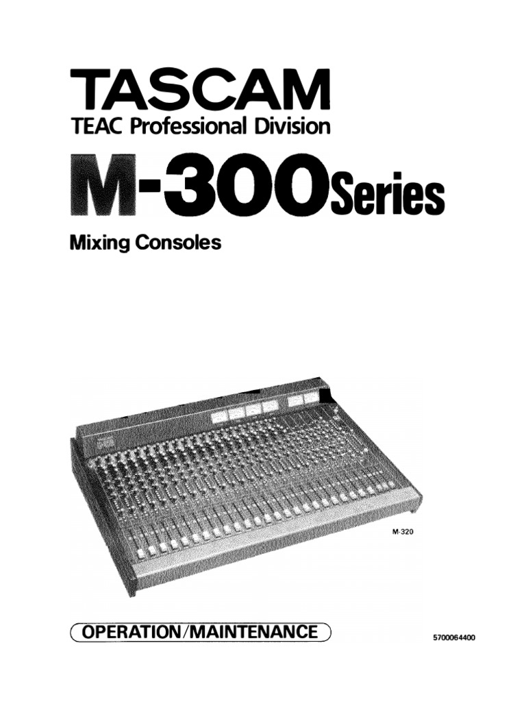 TASCAM M-300 Series M-312 Service Manual OCR