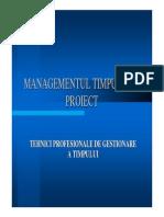 Managementul Timpului in Proiect CS PWC Catalin Dinu
