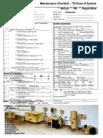 TS Dryer-System Checklist 05517206