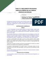 Reglamento Provisional de Servicio Interno