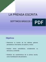 Prensa Escrita 7 Basico 2014