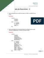 Algoritmos - Lista 3 (Resolução)