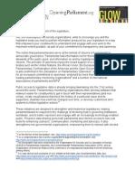 OpenUpYourLegislature! Campaign Letter