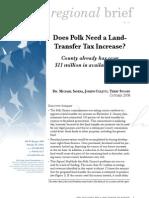 Does Polk need a land-transfer tax increase?