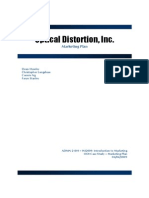 Optical Distortion Marketing Plan - Online Sample