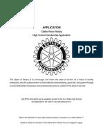 Olathe Noon Rotary Scholarship Application