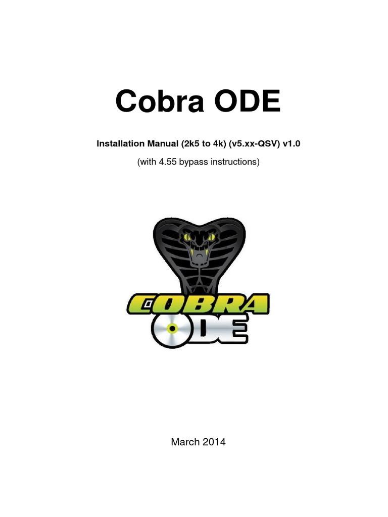 Cobra ODE Installation Manual (2k5 to 4k) (v5-QSV