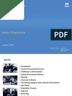 Oracle IProcurement-Training Material