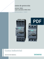 BUENO Manual SIRIUS Innovations Circuit Breaker 3RV2 Es-MX