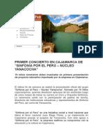 """Primer Concierto en Cajamarca de """"Sinfonía Por El Perú – Núcleo Yanacocha"""""""