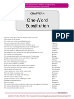 (One Word Substitution)
