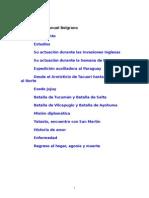 Biografía de Manuel Belgrano (27 Paginas)