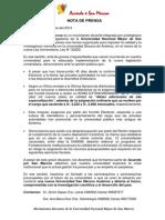 Nota de Prensa Acuerdo X San Marcos