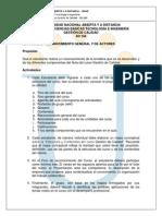 Guía de Actividades - Reconocimiento General y de Actores 2014II