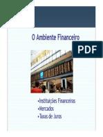 O Ambiente Financeiro 2013 2sem