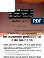 Parte1Análise do modelo de avaliação