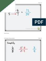3-4 Quotients of Monomials