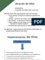 Planificación de Hilos