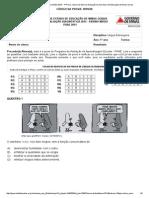 Avaliação Diagnóstica - Ensino Médio 2014 - 1ª Prova - Banco de Itens de Avaliação Da Secretaria de Educação de Minas Gerais