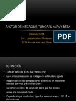 Factor de Necrosis Tumoral Alfa y Beta
