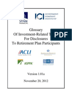 Glossary Investment Terms
