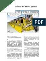 Bajo El Disfraz Del Interés Público. PDF